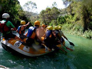 rafting por el rio guadalquivir, vacaciones en sierra de cazorla