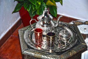 rincon de relax con puff y té
