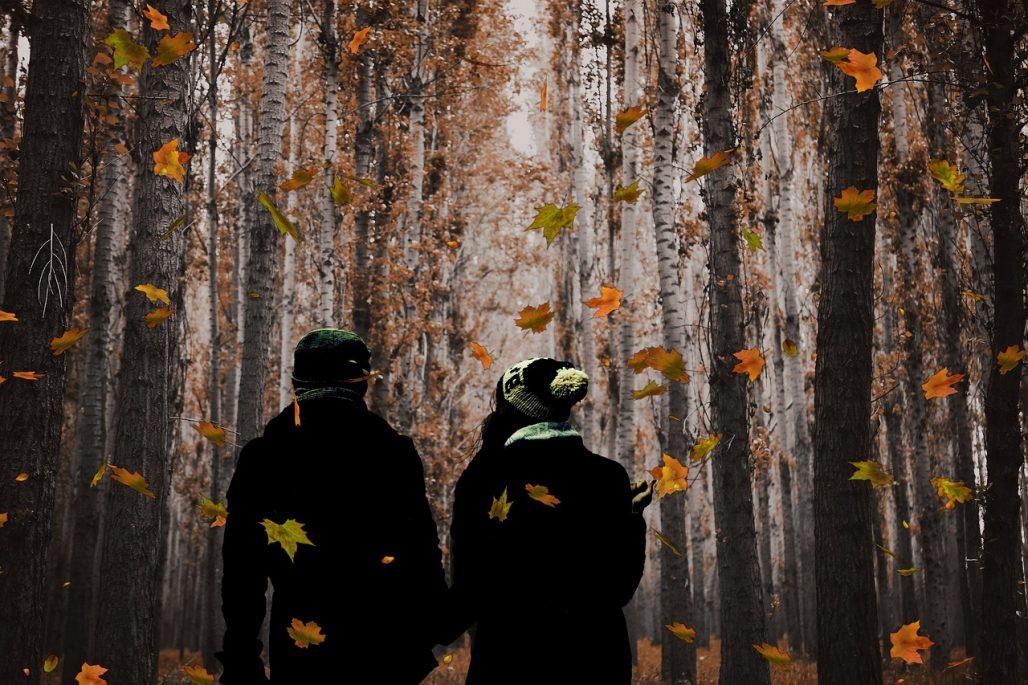 otoño en pareja en sierra de cazorla