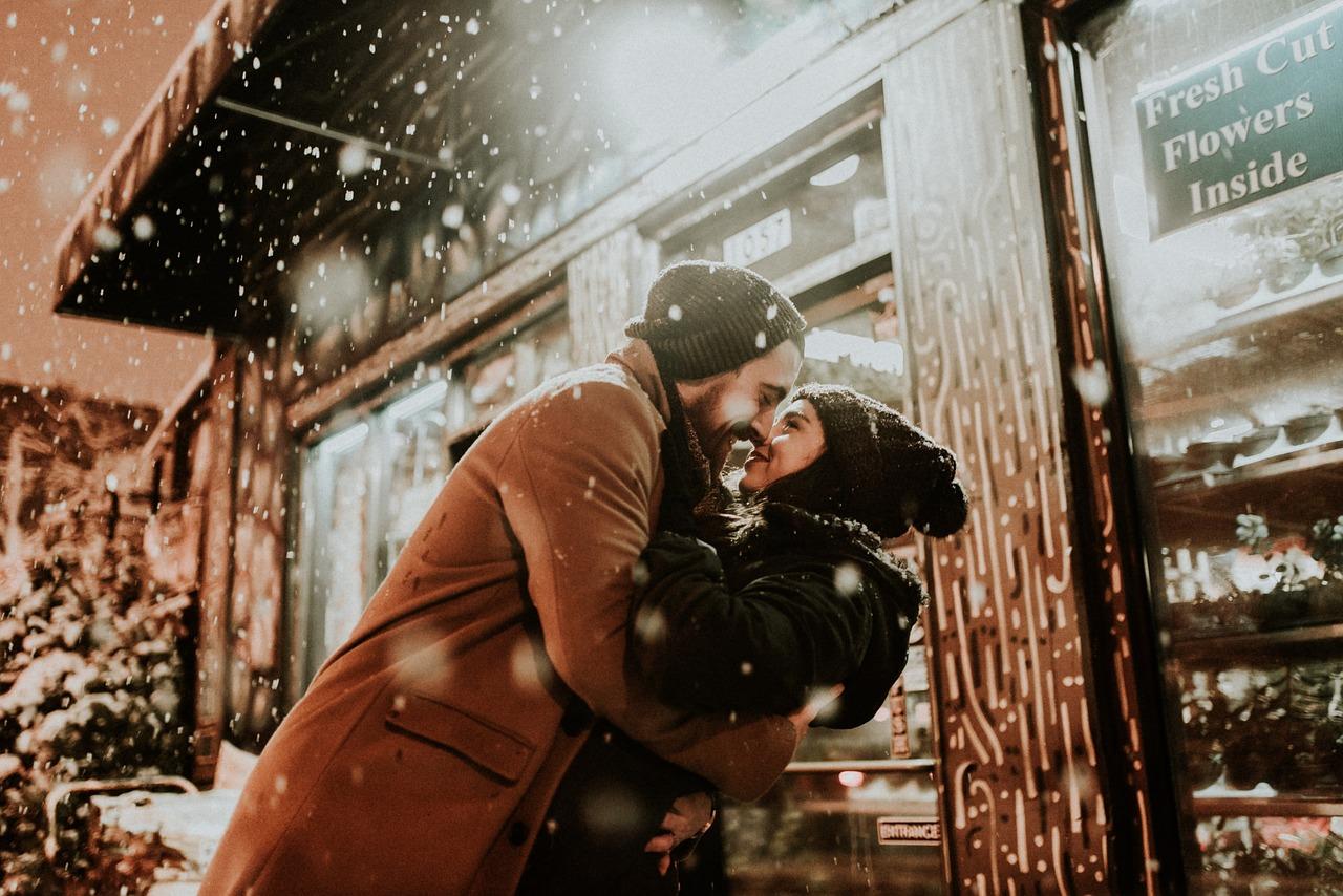 parejas en navidad