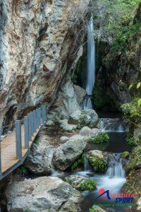 el pilon azul, entorno natural de las sierras de cazorla, en quesada, rio tiscar